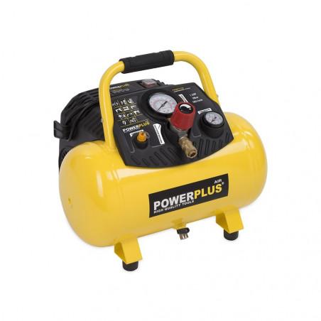 POWERPLUS Compresseur 1100W 12L sans huile 1,5 HP - POWX1723