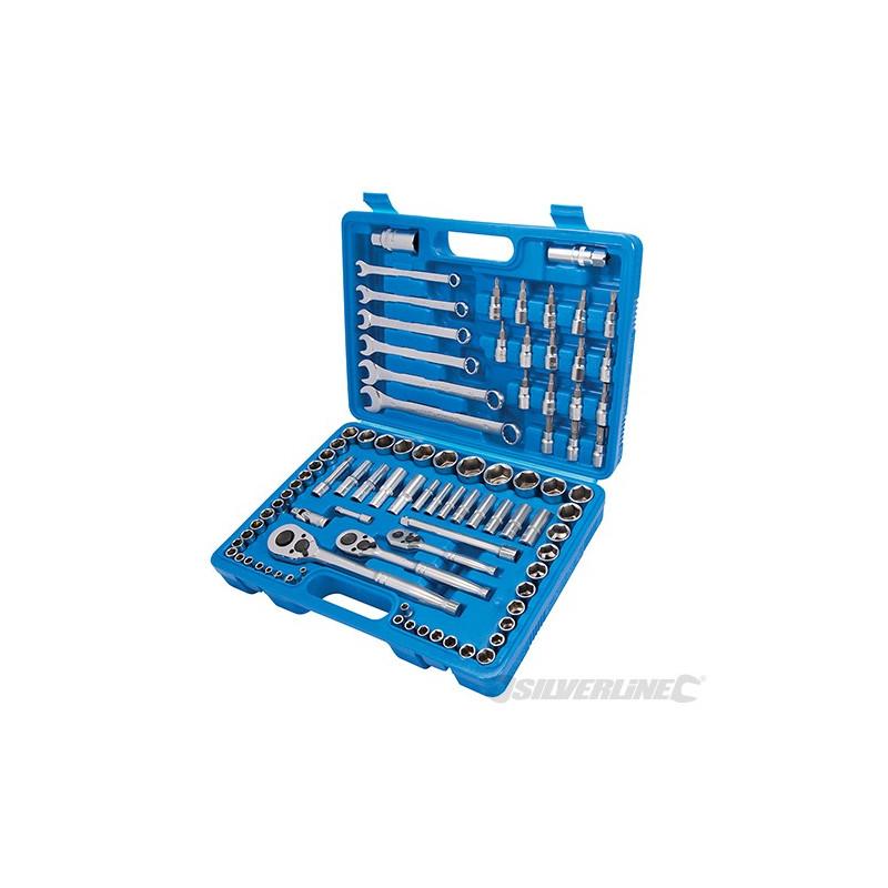 Silverline Coffret de mécanicien 90 pièces 868818