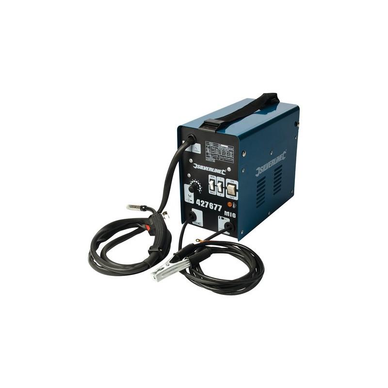 Silverline Poste à souder sans gaz Turbo MIG 120 A 427677