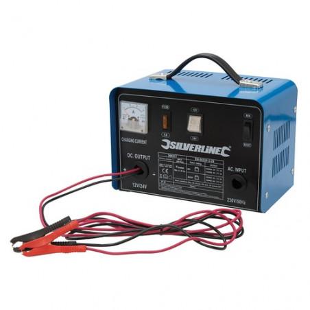 Silverline Chargeur de batterie 12 / 24 V 268317
