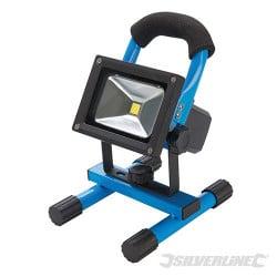 Silverline Projecteur de chantier LED rechargeable avec port USB 258999