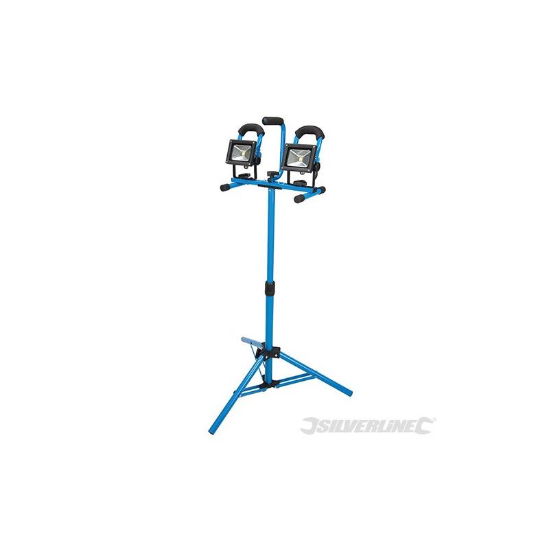 Silverline Lampe de chantier LED sur trépied 259306