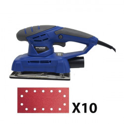 HYUNDAI ponceuse vibrante 200 W+ 10 abrasifs HP20AB