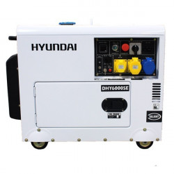 HYUNDAI Groupe électrogène Insono diesel 5300W Triphasé DHY6000SE-3