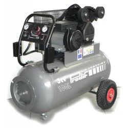 PRODIF Compresseur courroie bi-cylindre triphase V 100L 3 cv 270l/min - TRE-2210030TG