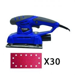 HYUNDAI - Ponceuse vibrante 200 W + 30 abrasifs - HPV30AB
