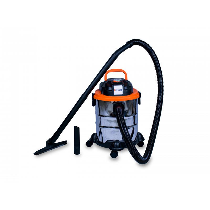 FEIDER Aspirateur eau et poussière 1250W 20L avec prise d'alimentation FHAEP125020L