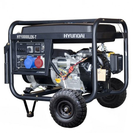 HYUNDAI Groupe électrogène essence tri et mono HY10000LEK-T 8.8 kVA