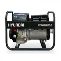 HYUNDAI Groupe électrogène poste à souder HYKW220dc-3 moteur essence triphasé