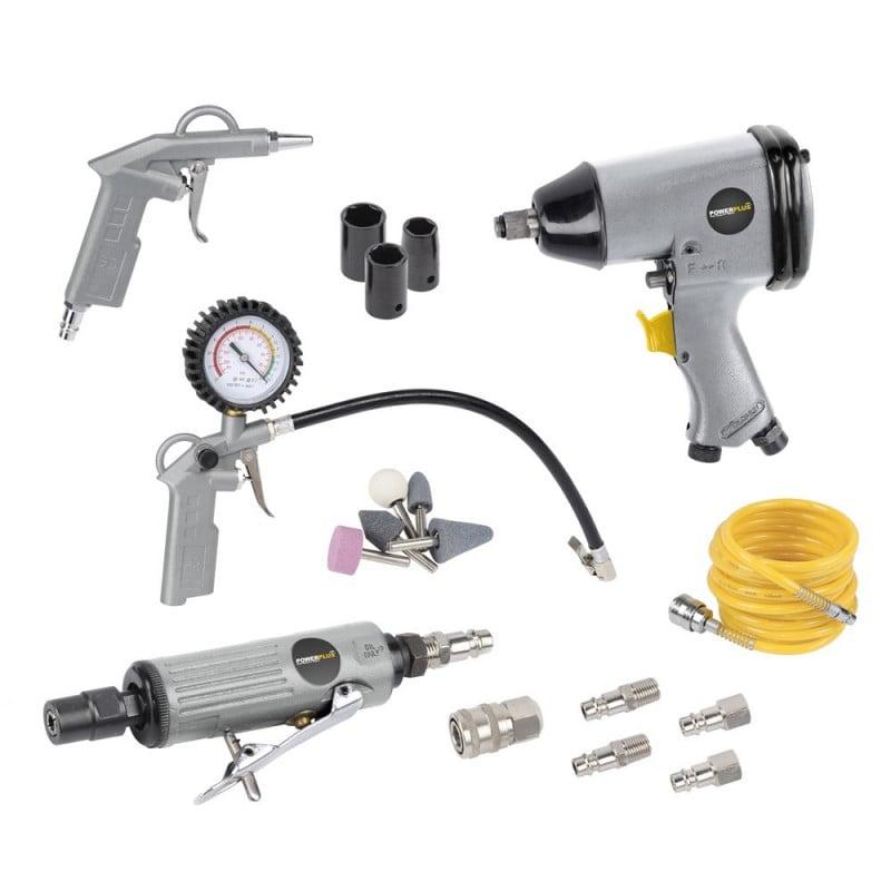 Kit 25 accessoires pneumatique POWAIR0021