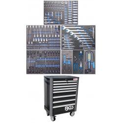 BGS TECHNIC Servante d'atelier Profil Standard avec 234 outils