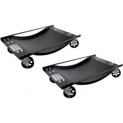 BGS TECHNIC Chariots de déplacement de véhicules légers - 1 paire 8386