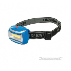 SILVERLINE Lampe frontale LED COB 307918