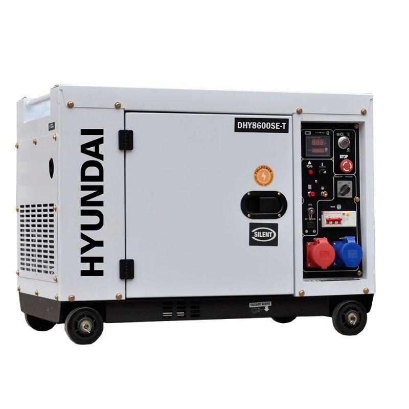 HYUNDAI Groupe électrogène diesel mono et tri 8 kVa DHY8600SE-T