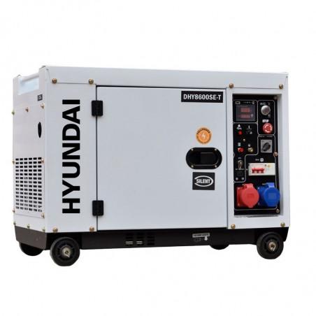 HYUNDAI Groupe électrogène diesel mono et tri 8 kVa DHY8500SE-T