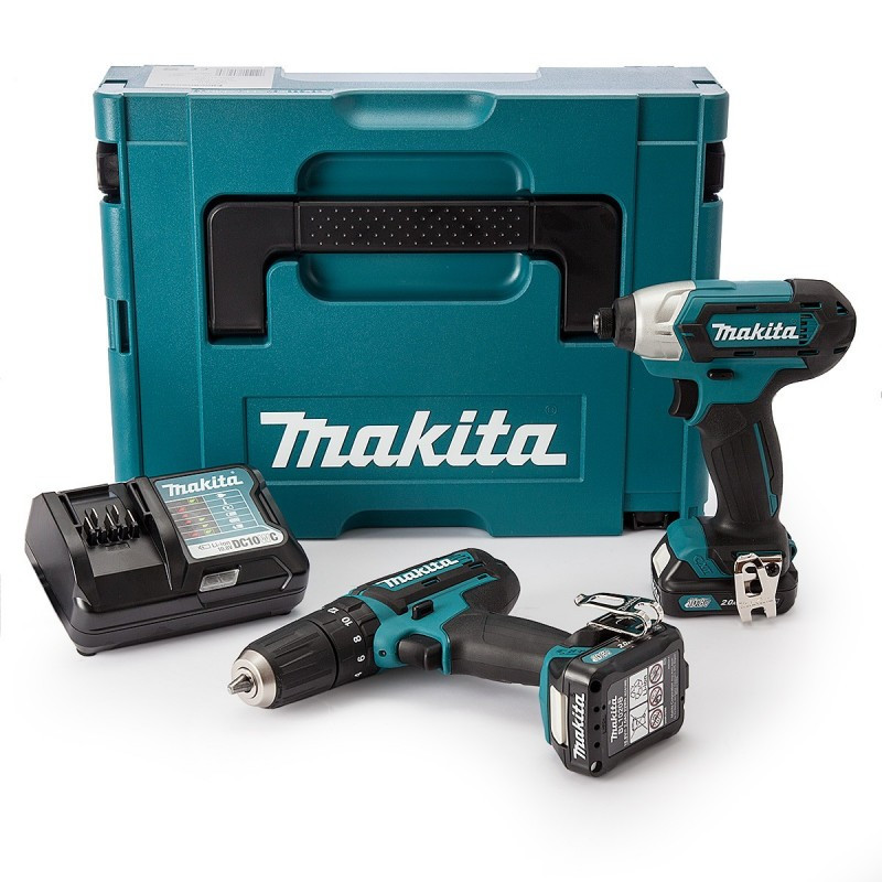 Pack 2 Machines MAKITA CLX202AJ (HP331D + HP331D) 10,8 V Li-ion (2 x 2 Ah)