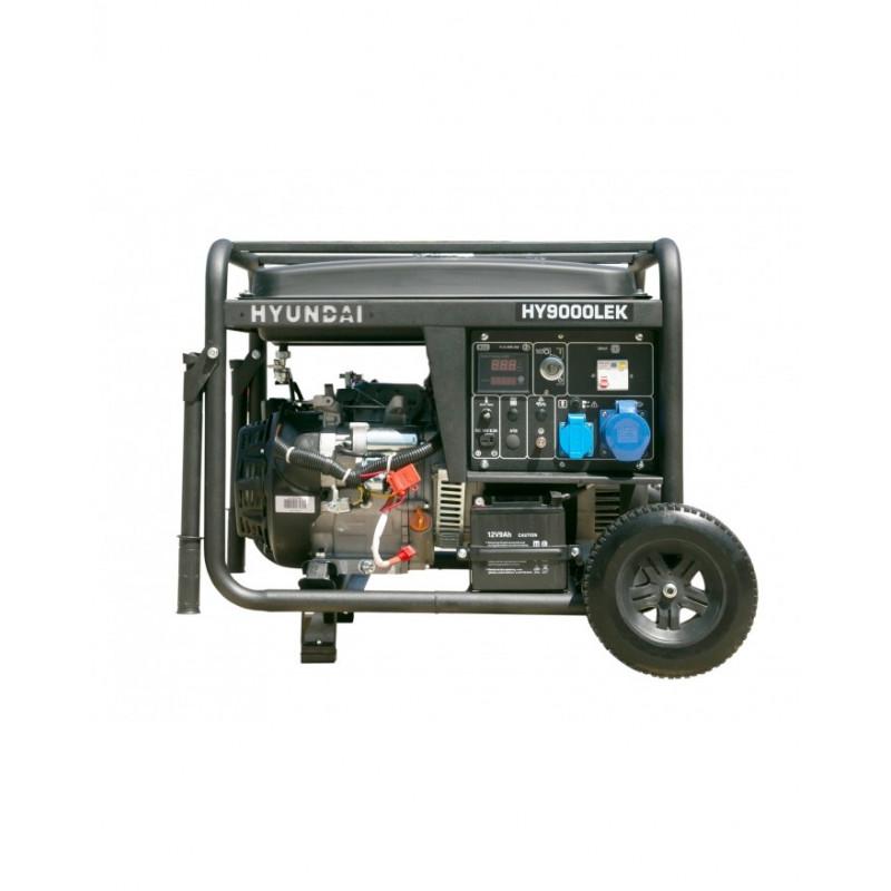 HYUNDAI Groupe Electrogène de chantier 6500W - HY9000LEK - Serie Pro