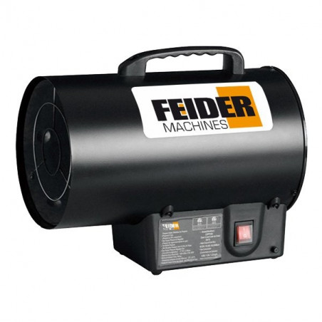 FEIDER Chauffage gaz 15000 W 51100 Btu 300 m³/h 150 m² FCD15KW-1