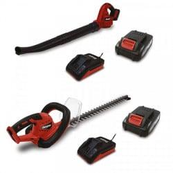 ENERGIZER Pack Taille-haie et souffleur sans fil 20 V 2 Ah 52 cm - Nombre de batterie(s) 2 - kit de protection EZPACK20V-2