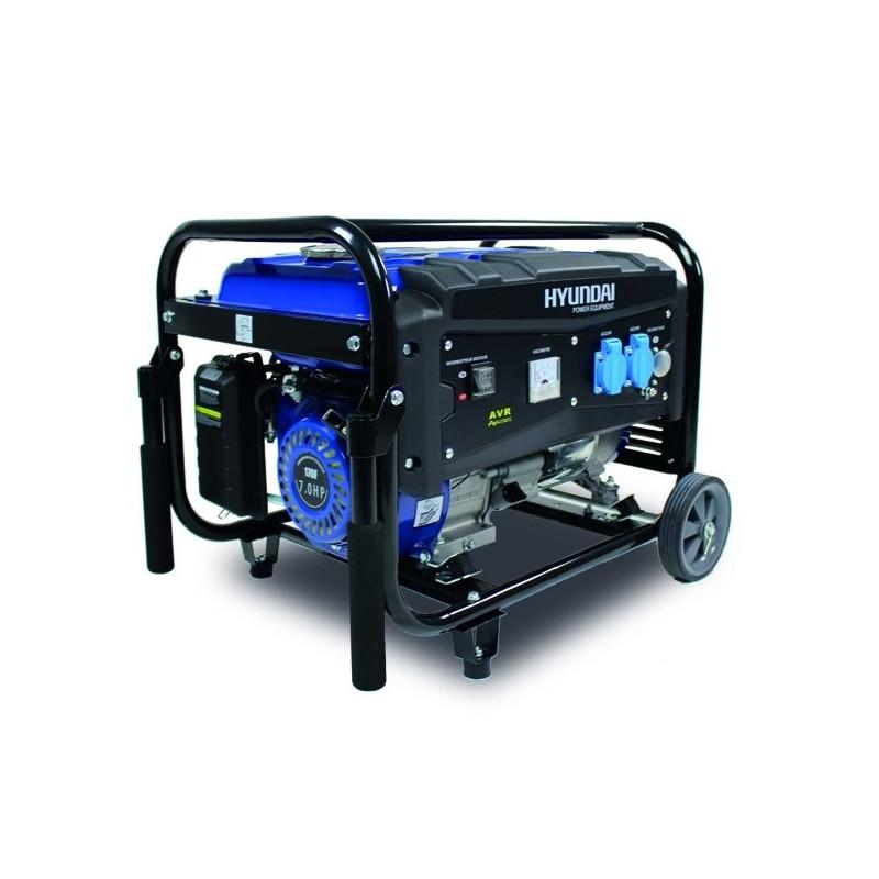 HYUNDAI Groupe électrogène essence de chantier 3000 W 2700 W - Système AVR HG2700-A
