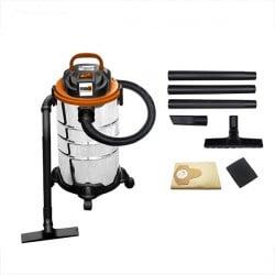 FEIDER Aspirateur eau et poussière 1400 W 30 L - Cuve Inox FHAEP1430L