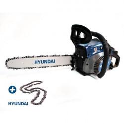 HYUNDAI Tronçonneuse thermique 41 cm³ 40 cm - Guide et chaîne HYUNDAI - démarrage manuel avec lanceur HTRT4140-2AC