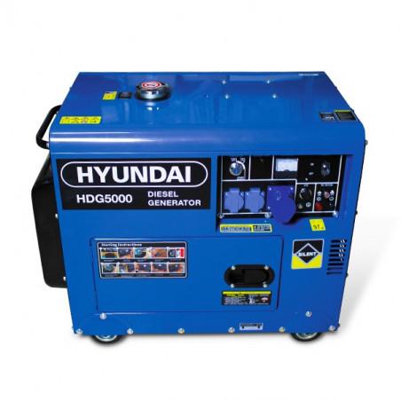 HYUNDAI Groupe electrogene diesel 5000 W - Monophasé HDG5000