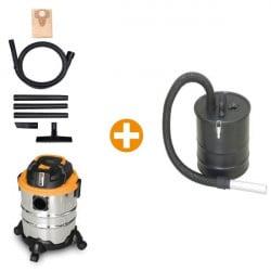 FEIDER Pack aspirateur eau et poussière + vide cendre 1250 W 20 L FHA1250VC
