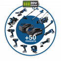 HYUNDAI Perceuse percussion sans fil 20 V 40 Nm HPP20V