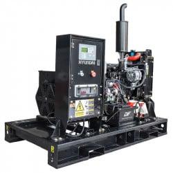 HYUNDAI Groupe électrogène professionnel Diesel 11000W DHY11KEM - Vue moteur