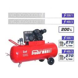PRODIF Compresseur courroie bi-cylindre v 200 l 3 cv vc3052003m