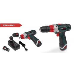 POWERPLUS Perceuse visseuse sans fil 12 V + 2 batteries - POWXQ5243
