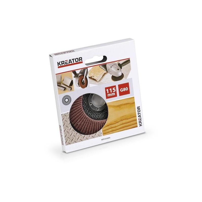 DISQUE A LAMELLES ABRASIVES METAL/BOIS 115MM G80 POUR MEULE