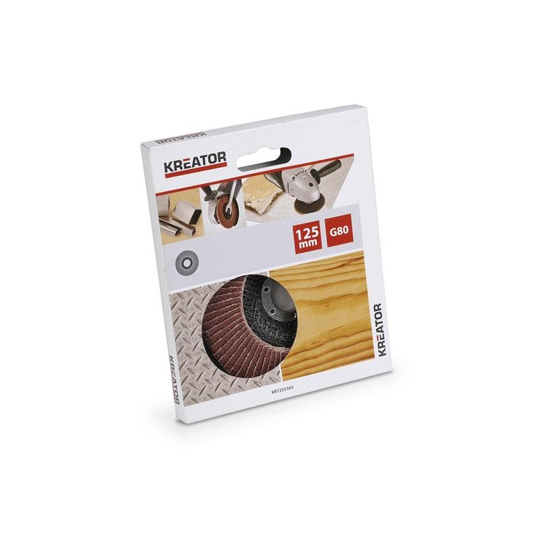 DISQUE A LAMELLES ABRASIVES METAL/BOIS 125MM G80 POUR MEULE